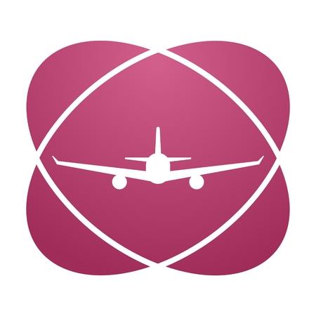 trip hazard sign: Pink sign airplane