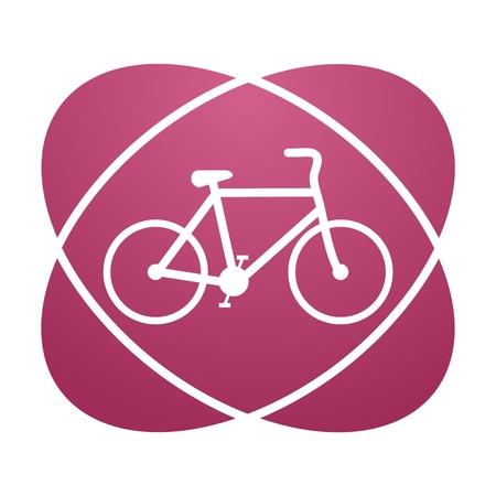 original bike: Pink sign bicycle