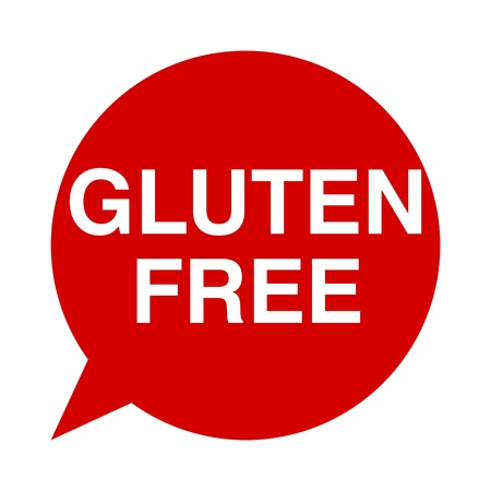 gluten: Speech Bubbles gluten free Illustration