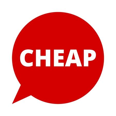 cheap: Speech Bubble cheap