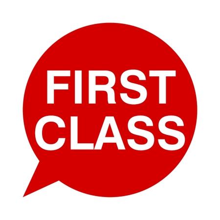 first in class: Speech Bubbles first class