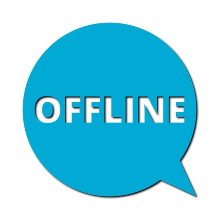 offline: Speech Bubble offline with shadow
