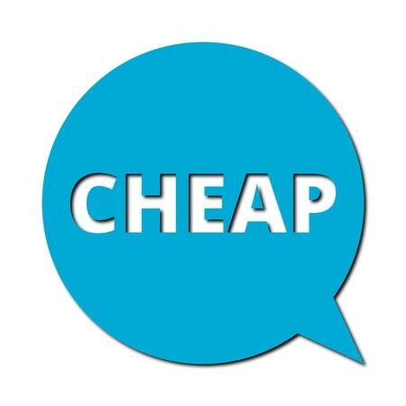 cheap: Speech Bubble cheap with shadow