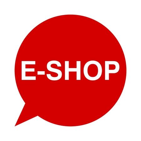 e shop: Speech Bubble e shop Illustration