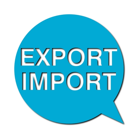 export import: Speech Bubbles export import with shadow Illustration