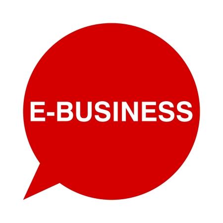 e business: Speech Bubble e business