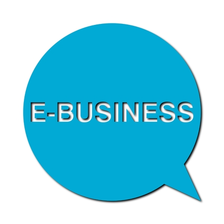 e business: Speech Bubble e business with shadow