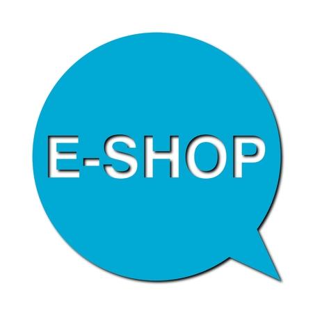 e shop: Speech Bubble e shop with shadow