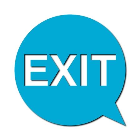 Speech Bubble exit