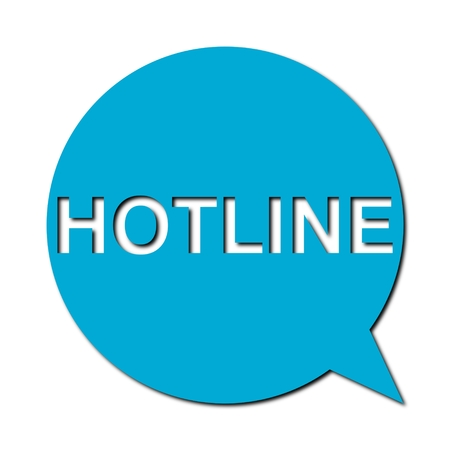 hotline: Speech Bubble hotline with shadow