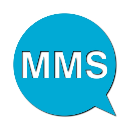 mms: Speech Bubble mms with shadow