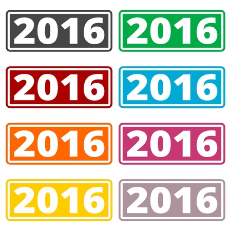 new years resolution: 2016 Sign set, Happy new year