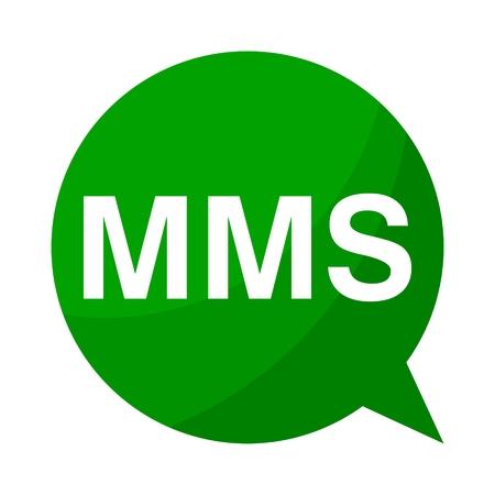 mms: Green Speech Bubble mms