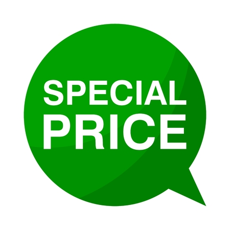 special price: Green Speech Bubble special price Illustration
