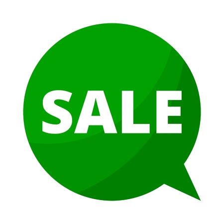 big deal: Green Speech Bubble sale Illustration