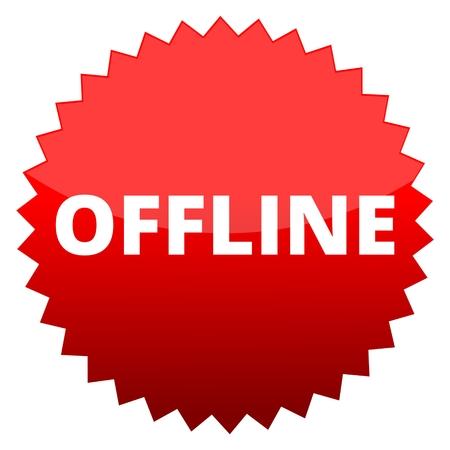 offline: Red button offline