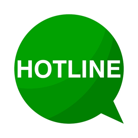 hotline: Green Speech Bubble hotline