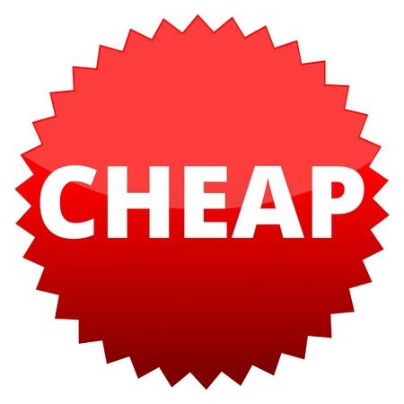 cheap: Red button cheap