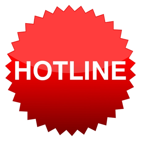 hotline: Red button hotline Illustration