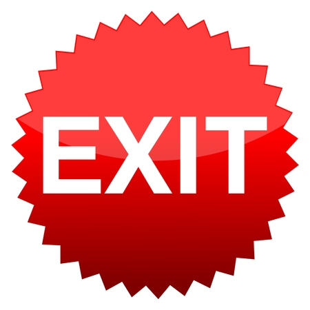exit button: Red button exit