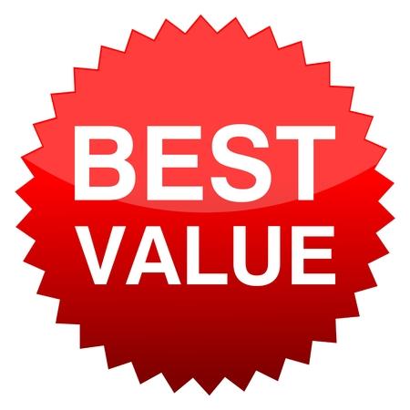 keywords bubble: Red button best value
