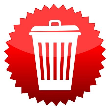 urn: Red sun sign trash