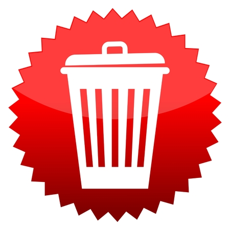 scrapheap: Red sun sign trash