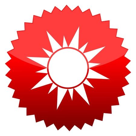 Red sun sign sun Illustration