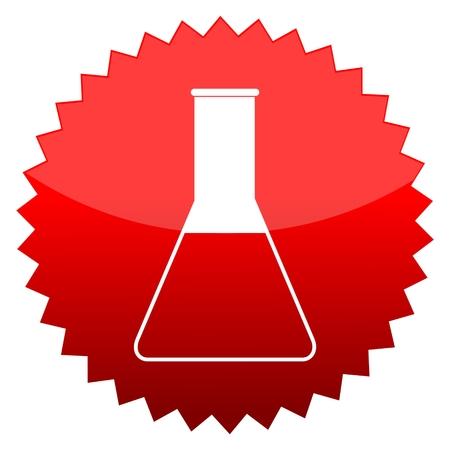 material de vidrio: Sol rojo signo de la cristaler�a Vectores