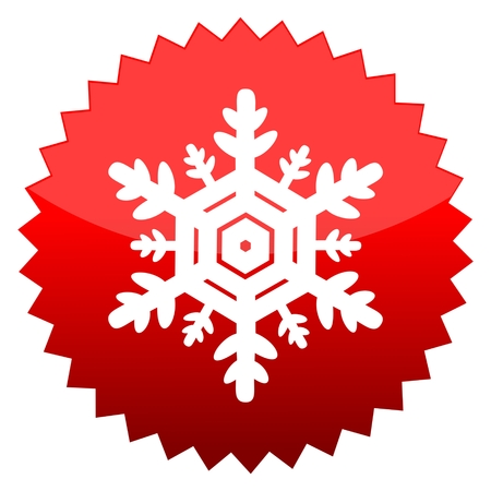 red sun: Red sun sign snowflake