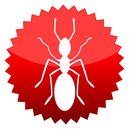 isolates: Red sun sign ant Illustration