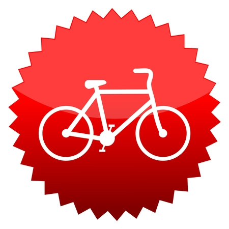 red sun: Red sun sign bicycle