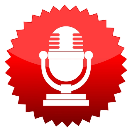 red sun: Red sun sign microphone