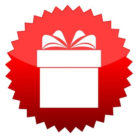 red sun: Red sun sign gift box Illustration