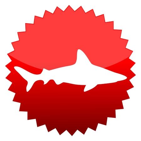 red sun: Red sun sign shark