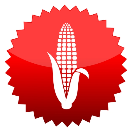 red sun: Red sun sign corn