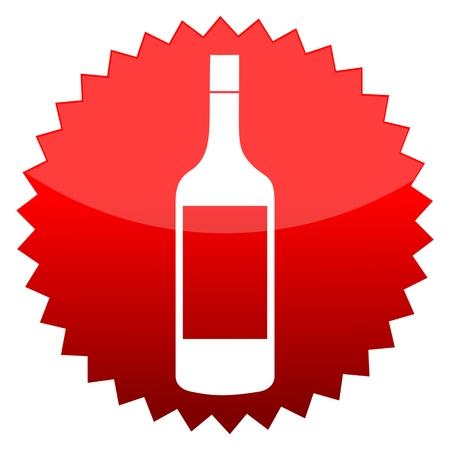 red sun: Red sun sign acohol bottle Illustration