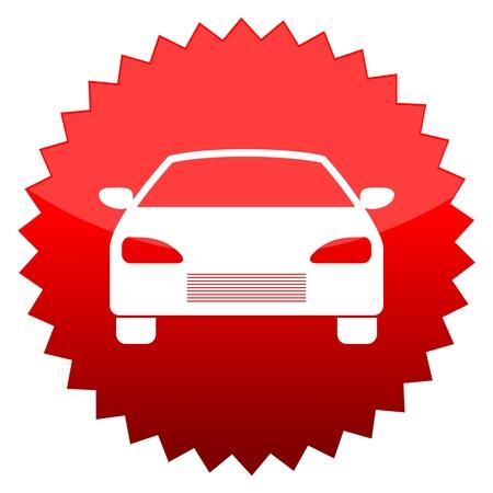 red sun: Red sun sign car