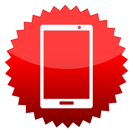 red sun: Red sun sign smart phone