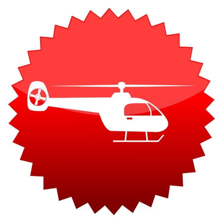 red sun: Red sun sign helicopter