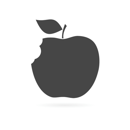 crunch: Apple - vector icon Illustration