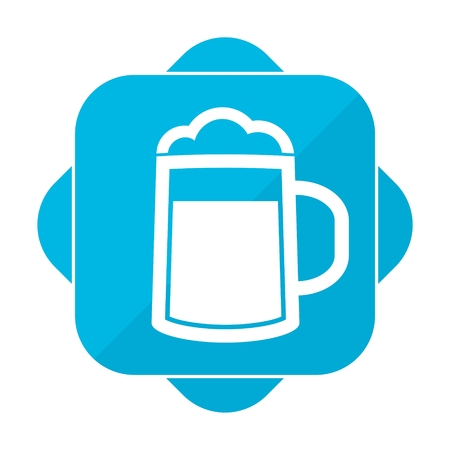 guinness: Blue square icon beer
