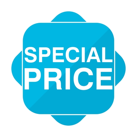 special price: Blue square icon special price Illustration