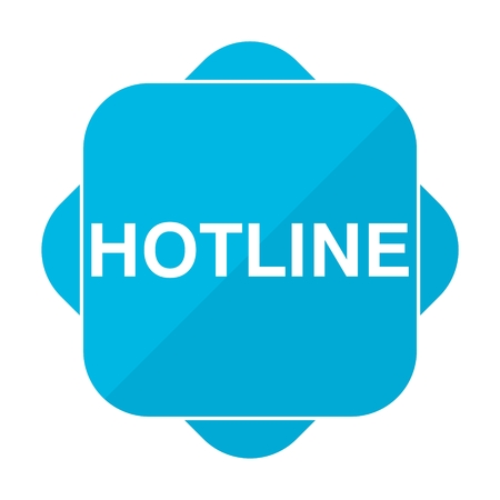hotline: Blue square icon hotline