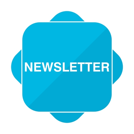 disclosure: Blue square icon newsletter Illustration