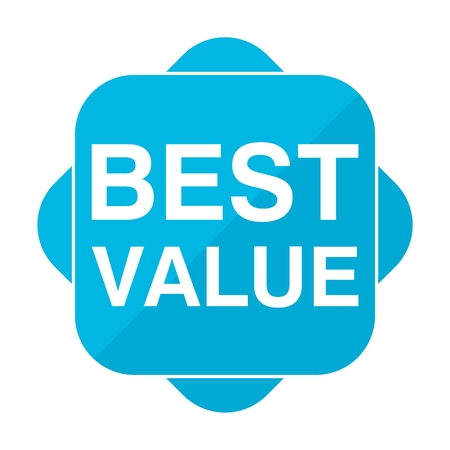 Blue square icon best value