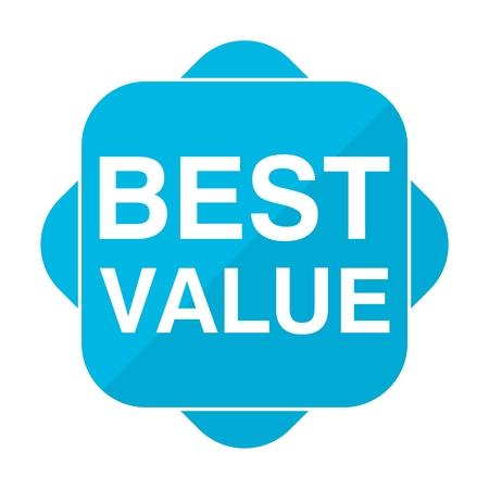 Blue square icon best value