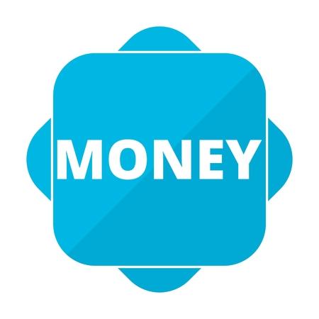 new account: Blue square icon money