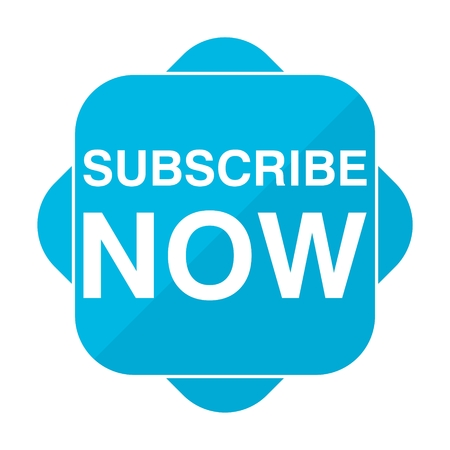 subscribe now: Blue square icon subscribe now