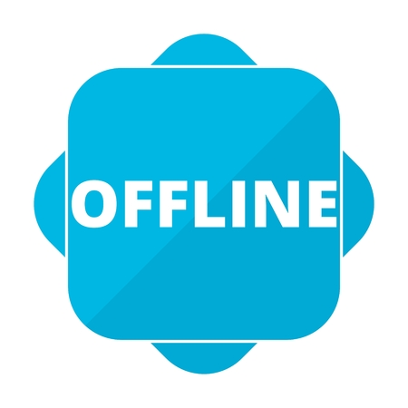 offline: Blue square icon offline